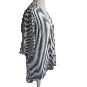 Lularoe Lindsay Kimono Size M Black & White Stripe